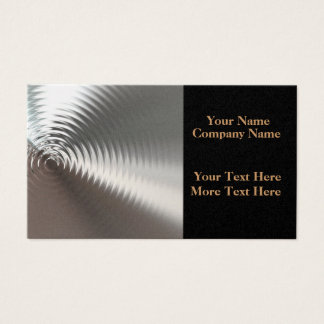 Liquid Gold Ripples Business Cards