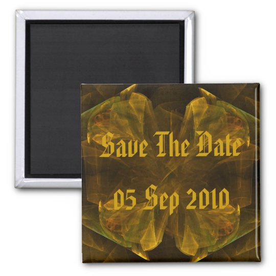Liquid Gold Save The Date Magnet