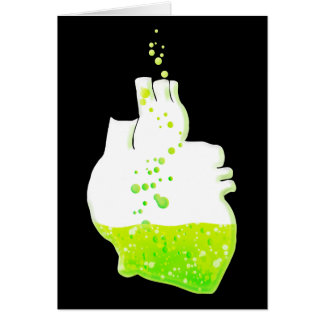 liquid green anatomical heart card