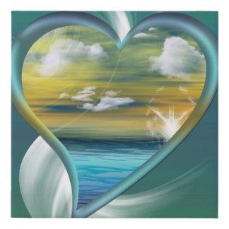 Liquid Heart Faux Canvas Print