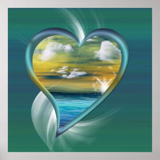 Liquid Heart Posters