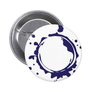 Liquid Ink Splash Vector Pinback Button