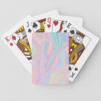 Liquid Iridescent Unicorn Color Design Playing Cards