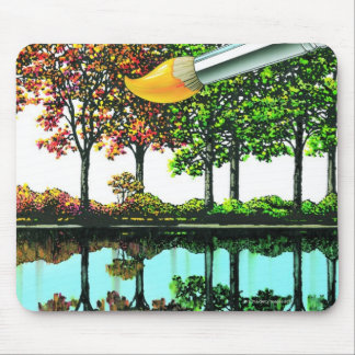 Liquid Library 9 Mouse Pad