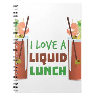 Liquid Lunch Spiral Notebook