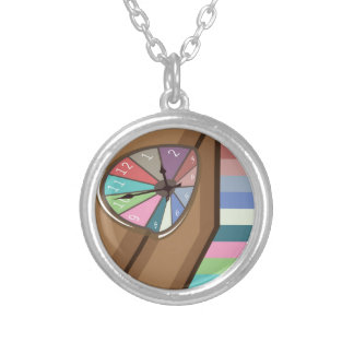 Liquid Melted Clock abstract Silver Plated Necklace