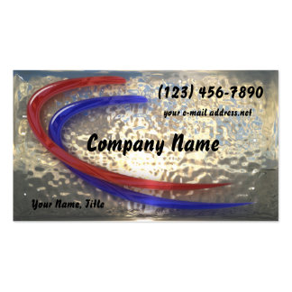 liquid Metal and Glass Double-Sided Standard Business Cards (Pack Of 100)