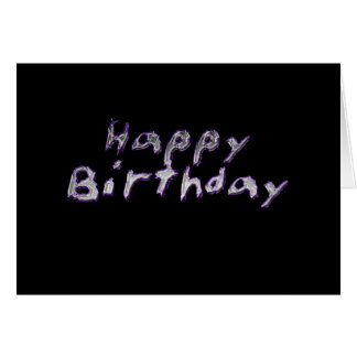 Liquid metal birthday card