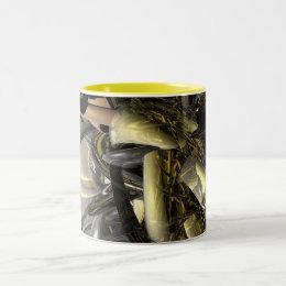 Liquid Metal Two-Tone Coffee Mug
