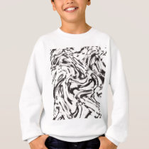 Liquid modern pattern sweatshirt