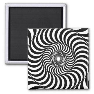 liquid - Op Art 2 Inch Square Magnet