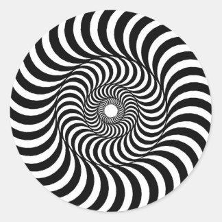 liquid - Op Art Classic Round Sticker