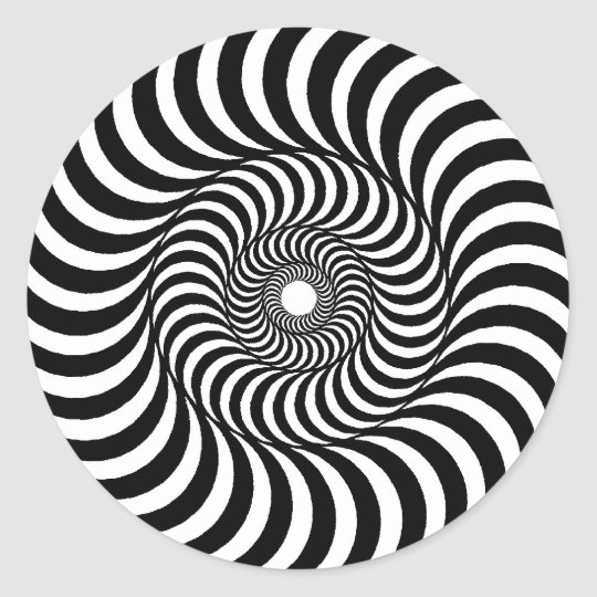 liquid - Op Art Classic Round Sticker
