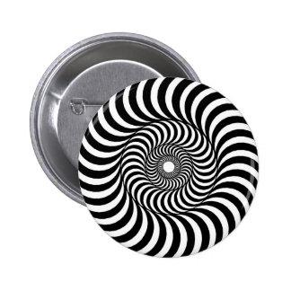 liquid - Op Art Pinback Button
