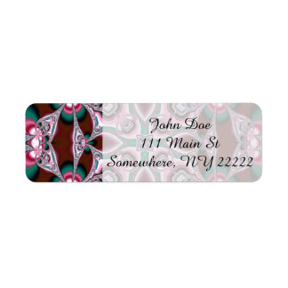 Liquid Pink Floral Abstract Label