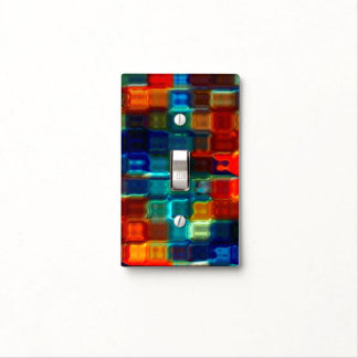 Liquid Plastic Stained Glass Mosaic Light Switch Cover