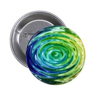 Liquid Rainbow Pinback Button