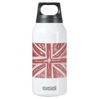 Liquid Red Union Jack 10 Oz Insulated SIGG Thermos Water Bottle