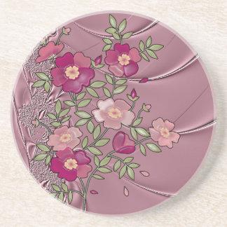 Liquid Rose Satin Coaster