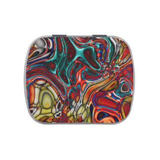 Liquid Sci-Fi Abstract Candy Tins