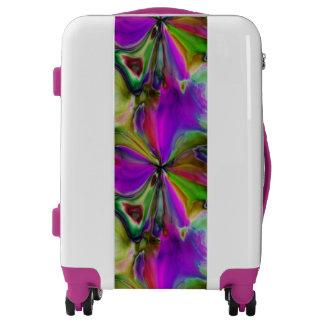 Liquid Silk Purple Flower Luggage