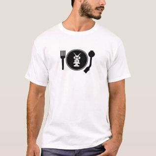 Liquid Sky Music  Plate Logo T-shirt at Zazzle