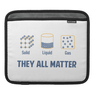 Liquid Solid Gas - They All Matter iPad Sleeves