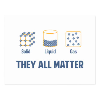 Liquid Solid Gas - They All Matter Postcard