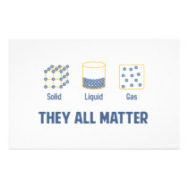 Liquid Solid Gas - They All Matter Stationery