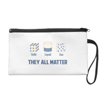 Liquid Solid Gas - They All Matter Wristlet