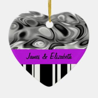 Liquid Stripes Love Ornament