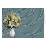 Liquid Teal Satin Note/Greeting Card