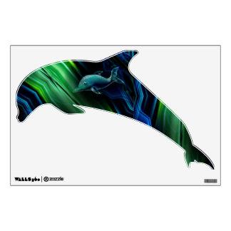 Liquid Vibrations Dolphin Neon Wall Decal