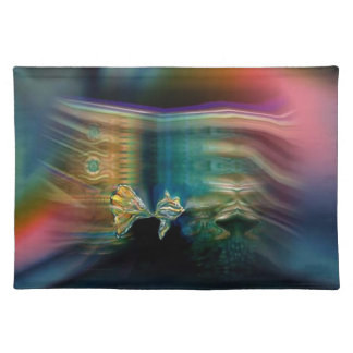 Liquid Vibrations Funky Fish Cloth Placemat