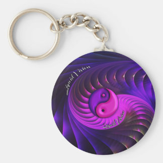 Liquid Vision 1 Yin-Yang Keychain
