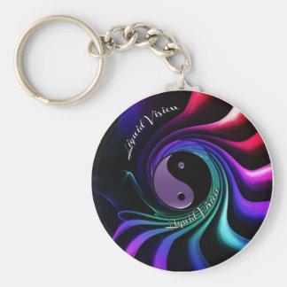 Liquid Vision Too Twisted Fractal Keychain