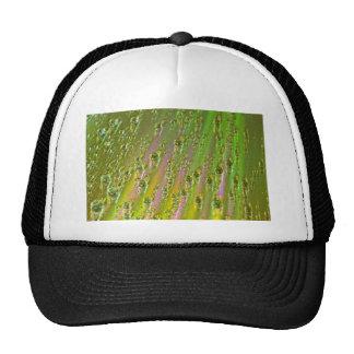 Liquid water drop pattern trucker hat