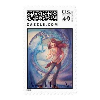 Liquid Water Figure Postage Stamp