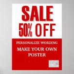 Liquidación promocional del negocio de la venta GR Poster
