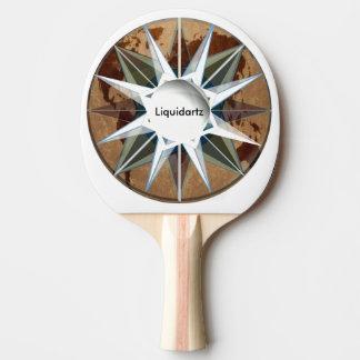 Liquidartz Nautical Ping Pong Paddle