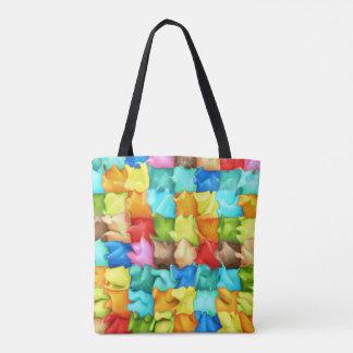 Liquidity Squares Tote Bag