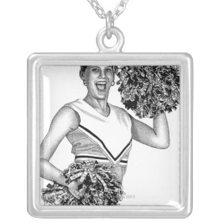 LiquidLibrary 2 Silver Plated Necklace