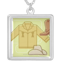 LiquidLibrary 3 Silver Plated Necklace