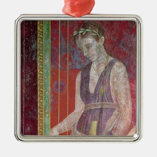 Líquido de colada del asistente de un jarro adorno navideño cuadrado de metal