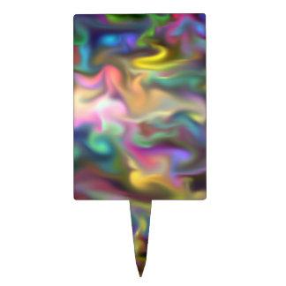 líquido de la fascinación multicolor decoraciones de tartas