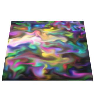 líquido de la fascinación multicolor lona envuelta para galerias
