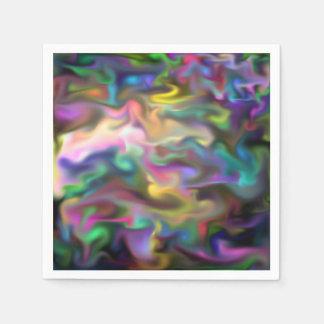 líquido de la fascinación, multicolor servilleta desechable