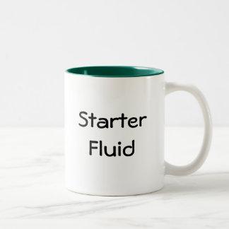 Líquido del arrancador taza de café