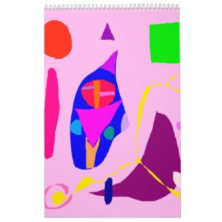 Líquido dulce romántico de la relación abstracta calendario