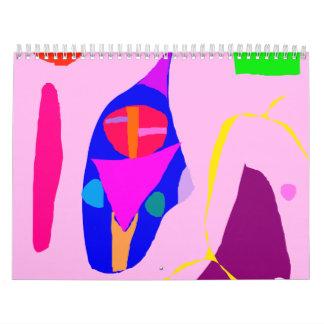 Líquido dulce romántico de la relación abstracta calendarios de pared